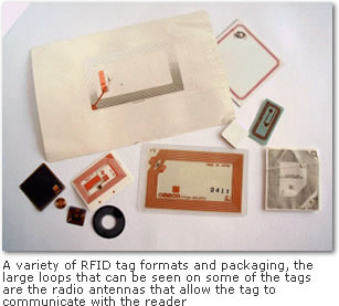 Photo of RFID tags